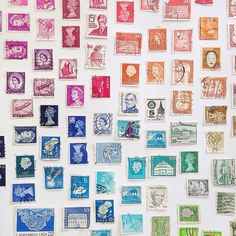 a rainbow of stamps