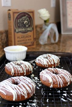 Healthy KodiakCakes Baked Chocolate Chip Donuts from The Diva Dish