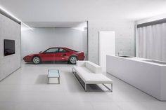 The 'FU House' in Shunan, Japan designed by Kubota Architect Atelier. See more on iGNANT.com #architecture #house #car #livingroom Photo by #KenjiMasunaga