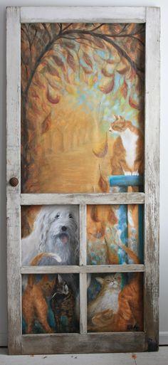 "erin's art and gardens: ""Seasons at Tinkerbell Farm"" Equine Art, Lanai, Horse Art, Tinkerbell, Giclee Print, Canvas Art, Screen Doors, Horses, Seasons"