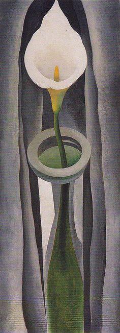 georgia o'keeffe calla lily in a tall glass no 1 - Google Search