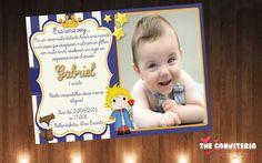 Convites Pequeno Príncipe, muito fofo!  Com foto de seu filho.  Impressos no papel glossy 230 gr.  Acompanham envelope e tag ou fita de cetim, como desejar.