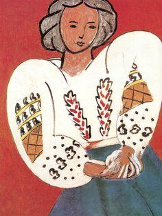 mujer con blusa rumana Matisse 1940 caracter del negro y detalles de la bluso viajes: inspiraci´n