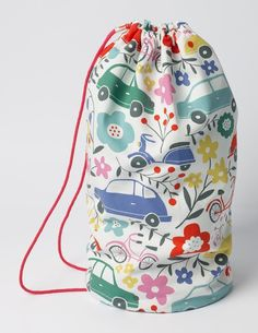 Buy the Printed Drawstring Bag now for your sports kit into this handy (and easy to carry) bag. This drawstring design has durable cord straps, a tough lining and even handy air holes to keep things fresh. Sew Mama Sew, Teachers Pet, Mini Boden, Kid Styles, Girls Accessories, Kids Wear, Girly Things, Drawstring Backpack, Print Patterns