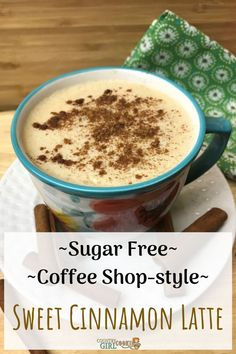 This sweet cinnamon latte says cozy! Sugar free low carb creamy and delicious this latte is compatible for the Trim Healthy Mama and Keto lifestyle. It's like going to a coffee shop in your very own kitchen! Easy Appetizer Recipes, Healthy Dessert Recipes, Snack Recipes, Fall Recipes, Sugar Free Recipes, Low Carb Recipes, Easy Healthy Breakfast, Eating Healthy, Healthy Food