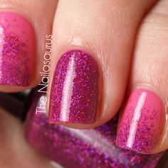 Razzle Dazzle Pink Nails