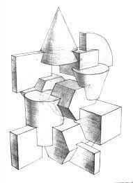 Картинки по запросу композиция из геометрических тел мархи