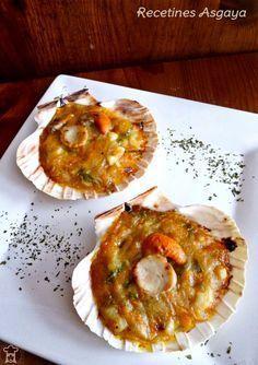 Cocina – Recetas y Consejos Seafood Recipes, New Recipes, Cooking Recipes, Pescado Recipe, Tapas, Xmas Food, Fish And Seafood, My Favorite Food, Food Videos