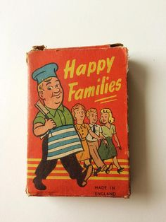 Vintage Happy Families card game / retro card game / vintage