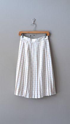 polka dot skirt / vintage midi skirt / pink polka skirt