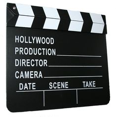 Our Hollywood Slateboard Film Production Clapper is a working production clapboard. You've seen film directors always using the movie clapper and that's what we have! Our Hollywood Film Production Sla