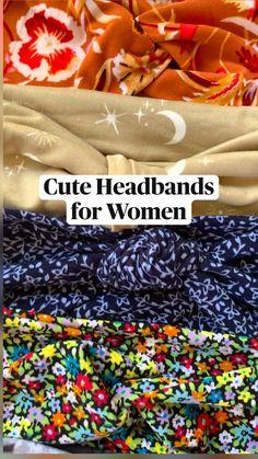 Tie Headband, Cute Headbands, Headbands For Women, Casual Hairstyles, Headband Hairstyles, Easy Hairstyles, Comfy Casual, Top Knot, Head Wraps