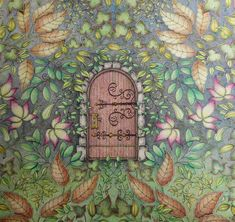 My Secret Garden Colouring Book Door With Leaves Around Inspiration And Ideas