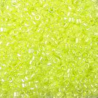 Miyuki 11/0 (1.6mm) Delica Luminous Limeade glass cylinder beads, colour number DB 2031, a neon light green. UK seller.