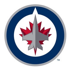 The hockey fan in your life can show team support with the machine washable Fan Mats NHL Hockey Round Puck Indoor Rug . This hockey puck-shaped rug features. Jets Hockey, Hockey Logos, Ice Hockey Teams, Nhl Logos, Hockey Puck, Sports Logos, Sports Teams, Hockey Stuff, Hockey Rules