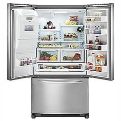 KitchenAid 26.6 Cu. Ft. French Door Bottom Freezer Refrigerator W/  Dispenser ENERGY STAR