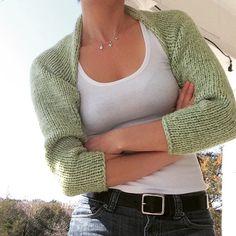 Easy Shrug Knitting Patterns Free knitting pattern for Simple Knitted Shrug Shrug Knitting Pattern, Knit Shrug, Easy Knitting, Knitted Shawls, Loom Knitting, Knitting Patterns Free, Knit Patterns, Free Pattern, Stitch Patterns