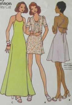 Vintage 1970s Betsey Johnson Dress Pattern-Bust 35-Butterick 3116. $8.00, via Etsy.