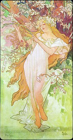 Alphonse Mucha - Printemps/Spring, 1896. | Printemps/Spring,… | Flickr