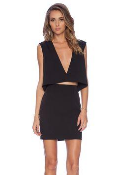 SOLACE London La Maire Mini Dress in Black