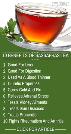 Once limited to America, Sassafras tea is now used across the world for its many health benefits. Given here are 10 amazing health benefits of this miraculous d