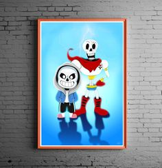 Sans and Papyrus from Undertale https://www.etsy.com/listing/462308923/brothers-sans-and-papyrus-art-print