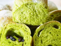 【菓子パン】ふんわり抹茶ミルクちぎりパンの画像