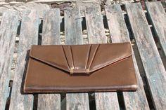 Bronze Clutch Bag by Jane Shilton, England True Vintage. British Fashion, British Style, Glasgow School Of Art, Vintage Wardrobe, Duffy, Classic House, Clutch Bag, Label, England
