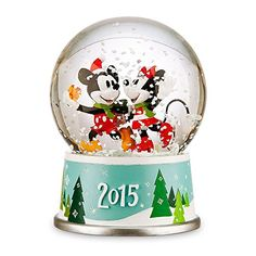 Disney Mickey and Minnie Mouse Holiday Snowglobe 2015