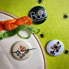 """@zappydots shared a photo on Instagram: """"Happy Halloween! (Or should we say, 'Stitchoween?!') 🎃"""" • Oct 31, 2020 at 7:37pm UTC Oct 31, Needle Minders, Happy Halloween, Decorative Plates, Dots, Instagram, Stitches"""