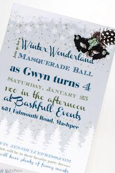 Snowflake Castle Invitation Winter Princess Castle Winter