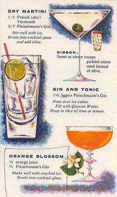 #VintageCocktail ; Recipes from 1960s