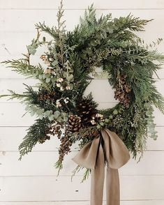 Handmade holiday wreath by Wildfield Paper Co from the Soil & Stem workshop.