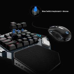 GameSir Gaming Keypad, One-handed Cherry MX red switch keyboard / Mechanical Blue axis /BattleDock, Gaming mouse optional Macro Keys, Hand Games, Switch Words, Fps Games, Ios 7, Android 4, Technology Gadgets, Tech Gadgets, Logitech