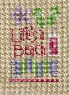 Cross Stitch Lizzie Kate Life's A Beach