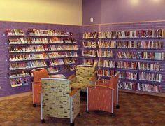 AB Teen Center_Comfy Chairs_#2_sml by Kimberly Bolan Cullin, via Flickr Teen Library Space, Den, Larger, Youth, Chairs, Comfy, Interior Design, Reading, Children