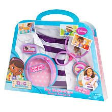 Finally!  Doc Mcstuffins Doctor's Dress Up Set.  Only $20.00.  Headband, name badge, stethoscope, shirt, and lab coat!  Awesome!