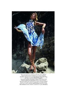 Vogue Paris June July 2011  Paradis bleu Model: Karmen Pedaru Photographer: Cedric Buchet Stylist: Anastasia Barbieri
