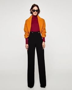 ZARA - WOMAN - BUTTON WAIST TROUSERS
