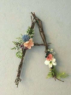 Woodland Nursery Letter Twig Letter Twig Monogram Rustic Wall Letter Rustic Letter Baby Girl Nursery Woodland Nursery Fairy Decor Rustic Home Decor Baby Decor Fairy girl Letter Monogram Nursery Rustic Twig Wall Woodland Rustic Wall Letters, Diy Letters, Flower Letters, Decorative Letters For Wall, Wall Letters Decor, Diy And Crafts, Arts And Crafts, Nursery Letters, Deco Floral