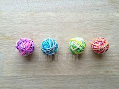 Rainbow Loom Band Bouncy Ball how to - super easy!