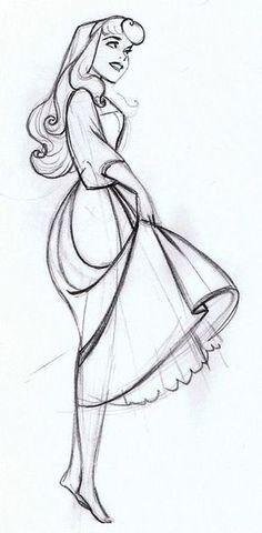 the art of the disney princess by glen keane   original sketch for princess Aurora