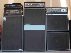 The Acoustic Control Corporation Amplifiers and The Black Widow Guitar and Bass Guitar Pedal Board, Wall Of Sound, John Paul Jones, Bass Amps, Pedalboard, Guitar Pedals, Bass Guitars, Acoustic Guitars, Vintage Guitars