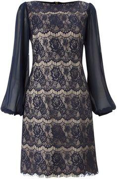 34 Sleeve Lace Shift Dress - Lyst