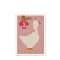 Maileg Pink Goose Gift Card - A Stationery and Craft Emporium - le petit paperie