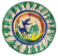 A Collection of Picasso Ceramics Goes on the Block. Picasso's circa-1950 ceramic piece Corrida with Figures.