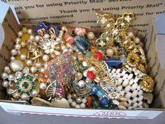 Vintage Costume Jewelry lot Grab bag Wearable Coro Smart Avon BSK GP
