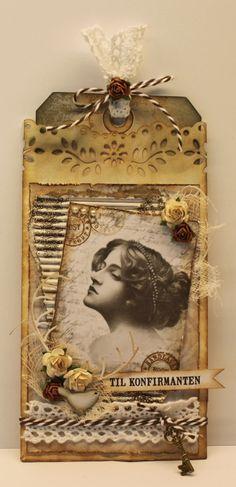 Mona`s kreative verden.: Pose-kort til konfirmanten.