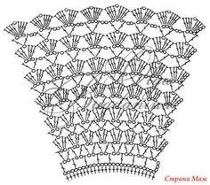 Best 12 Baby Crochet Patterns Part 33 – Beautiful Crochet Patterns and Knitting Patterns – SkillOfKing. Poncho Au Crochet, Crochet Skirt Pattern, Crochet Skirts, Crochet Fabric, Crochet Flower Patterns, Crochet Blouse, Crochet Clothes, Knitting Patterns, Filet Crochet