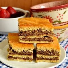Nuts and Plum Jam Cake recipes - Social Cooking Engine Romanian Desserts, Romanian Food, Romanian Recipes, Jam Cake Recipe, Cake Recipes, Vegan Recipes, Vegan Meals, Jam Tarts, Plum Jam